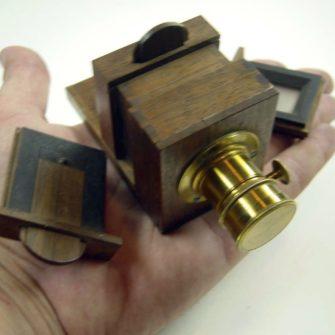 Chambre photographique à tiroir miniature