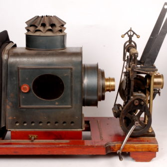 35mm Pathé Projector, with projection lantern