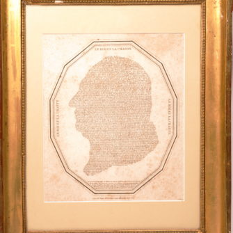Profil of Louis 18th, made from the text of the constitutional charter