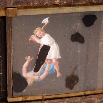 Moving Phantasmagoria Lantern Slide (circa 1800)