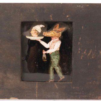 Plaque animée de fantasmagorie (circa 1800)