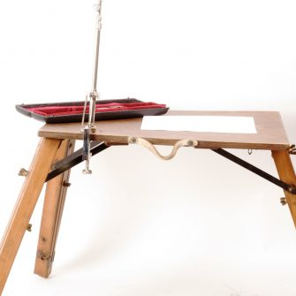 Camera Lucida with folding drawing table.