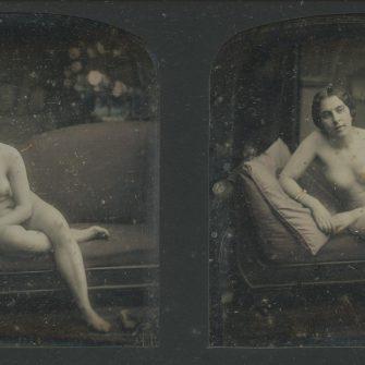 Daguerréotype stéréo. F. Jacques Moulin. France 1852