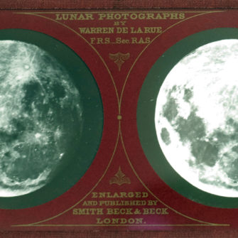 The Moon, Lunar Stereo Photograph, 1858/59, by Warren de la Rue