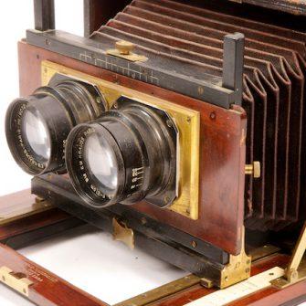 Chambre photographique stéréoscopique Mackenstein.