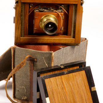 French Walnut Hand-and-Stand Camera