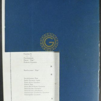 Catalogue GAUMONT 1929