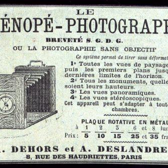 Appareil Sténopé-Photograhe