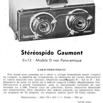 GAUMONT Stéréospido 1927