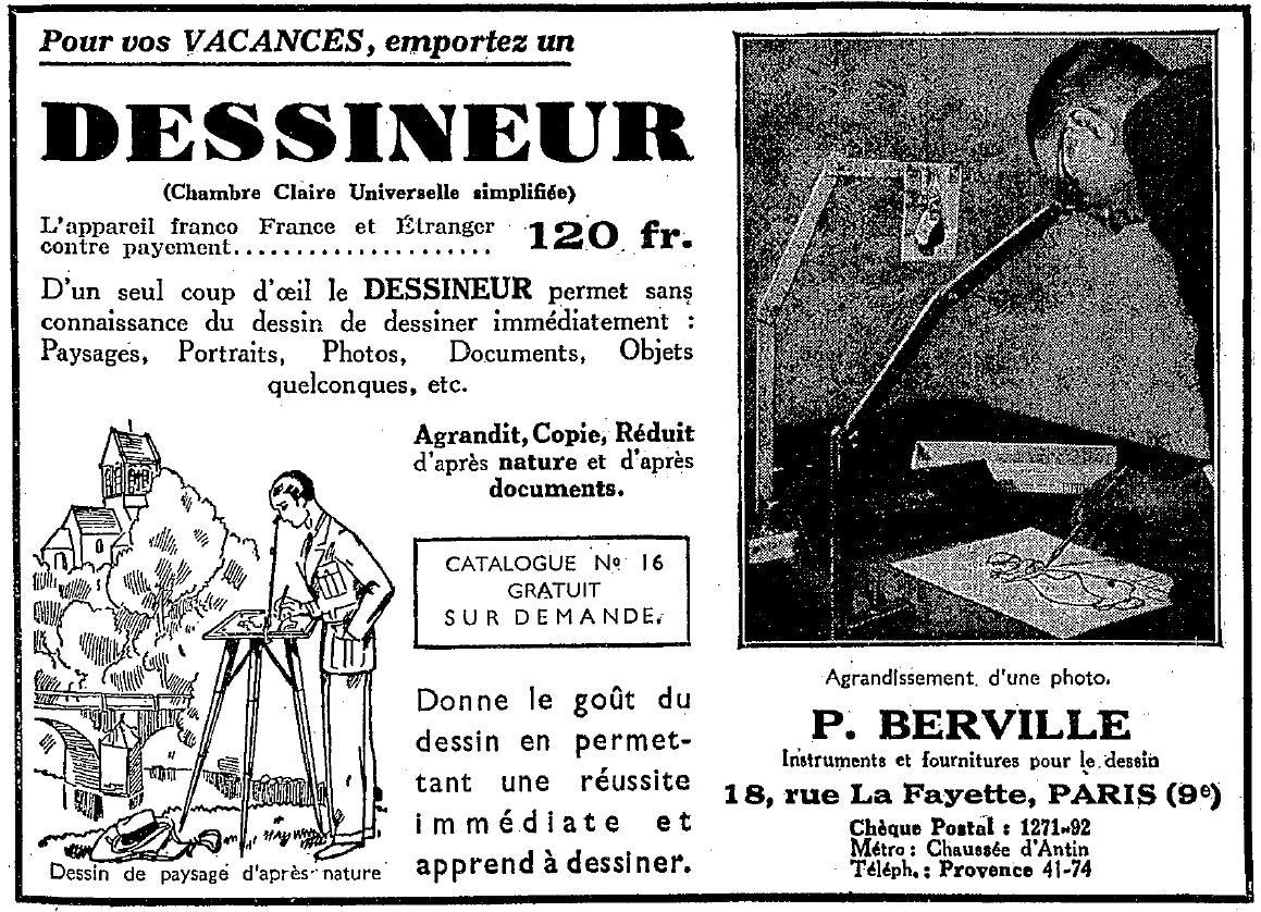 P berville le dessineur antiq photo for Chambre claire universelle p berville