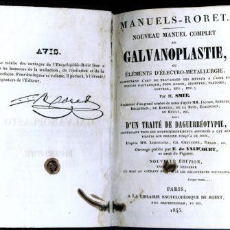 Manuel de Galvanoplastie