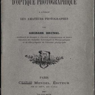Traité élémentaire d'Optique Photographique