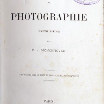 Monckhoven, Traité de photographie