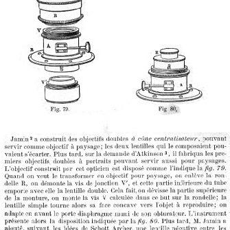 Objectif DARLOT de type «à cone centralisateur»