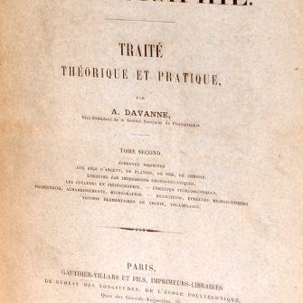 A. DAVANNE Traité Théorique et Pratique de Photographie