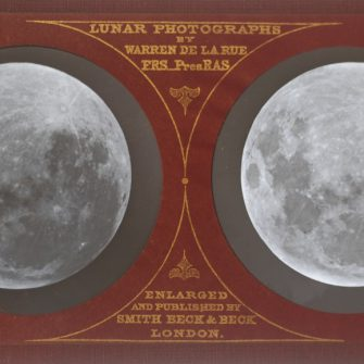 The Moon, Lunar Stereo Photograph, 1858, by Warren de la Rue.