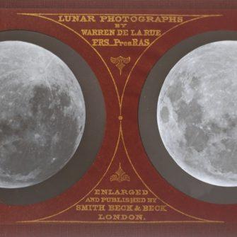 The Moon, Lunar Stereo Photograph, 1858/59, by Warren de la Rue.