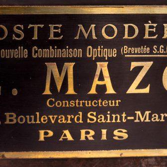 E. MAZO – Poste Modèle à Nouvelle Combinaison Optique