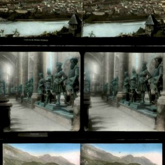 50 glass stereo views of the Tyrol. Ferrier & Soulier.