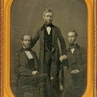 Gurney Jeremiah (1812-1887). Brothers. Whool plate Daguerreotype.