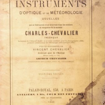 Catalogue d'Optique Charles Chevalier