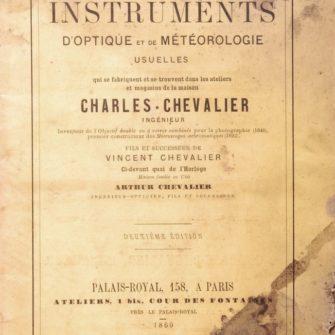 Catalogue d'Optique Charles Chevalier