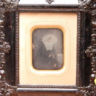 Daguerréotype, religieuse.