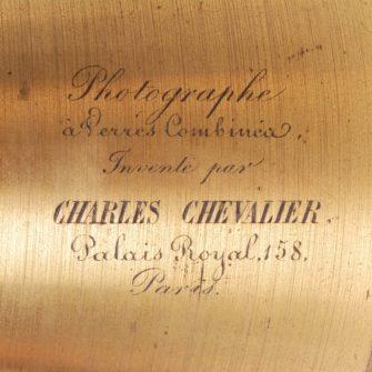 «Photographe à Verres Combinéa» – Charles Chevalier