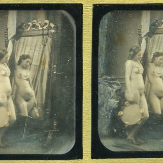 Daguerréotype stéréoscopique. Félix-Jacques Antoine Moulin.