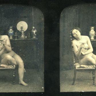 Daguerréotype stéréoscopique.