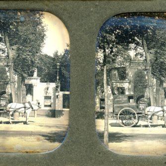 Anonyme, Le bal du chateau des fleurs, Paris. Daguerréotype Stéréoscopique. Vers 1855.