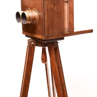 Chambre stéréo à tiroir époque Collodion