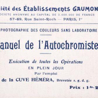 Gaumont Manuel de l'Autochromiste