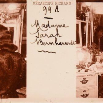 Sarah Bernhardt, stéréogrammes 45×107