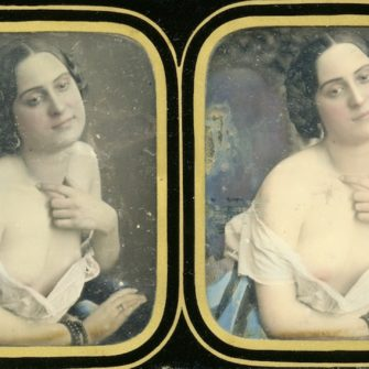 Daguerréotype stéréoscopique Auguste Belloc (attribué à)