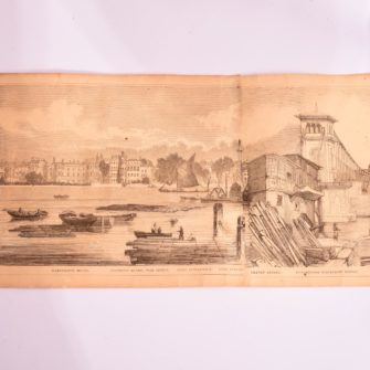 Grand panorama of London and the river Thames