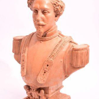 Photosculpture : Buste d'époque Napoléon III