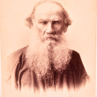 Portrait de Léon Tolstoï par Scherer & Nabholz