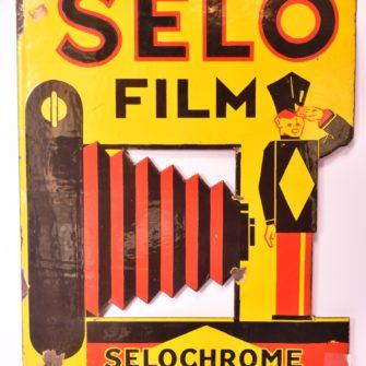 Plaque émaillée publicitaire «Selo Film»