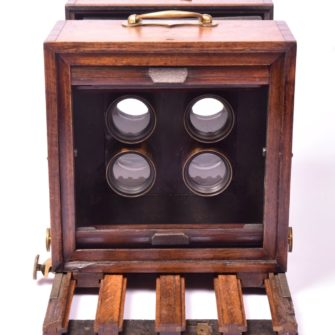 Rare camera for taking 4 cdv photos at once on the same plate.