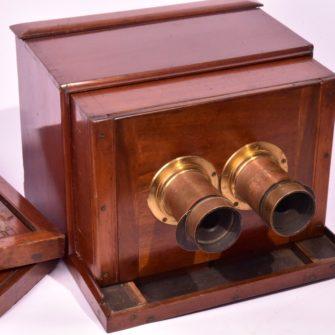 DALLMEYER Chambre photographique stéréoscopique à tiroir