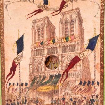 PANORAMA  Te Deum chanté à Notre Dame le 1er janvier 1852