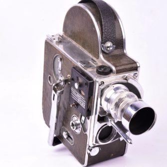 Rare Caméra Paillard-Bolex H9 pour film 9,5mm gainée lézard vert