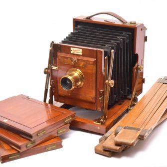 Chambre photographique Anglaise Sanderson Regular. 16,5×12 cm