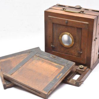 Chambre photographique époque collodion 13×18