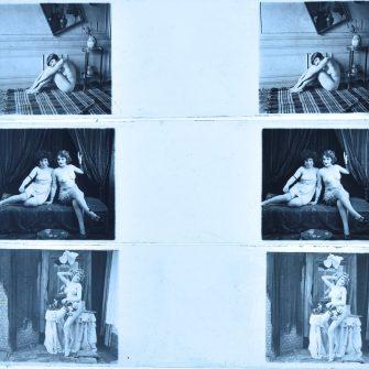 Modèles dénudés sur plaques de verre