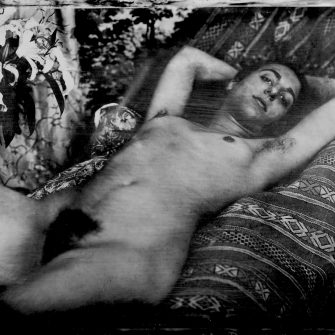 Nude No. 6 by Henryk Parvese. Contemporary metal collodion plate 7″x 5″.