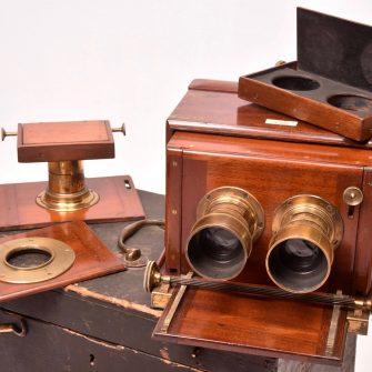 Dallmeyer Chambre photographique à tiroir Mono et stéréo