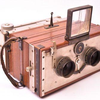 Jumelle photographique stéréoscopique tropicale