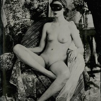 Ava B. Nude No. 1. Contemporary metal collodion plate 7″ x 5″